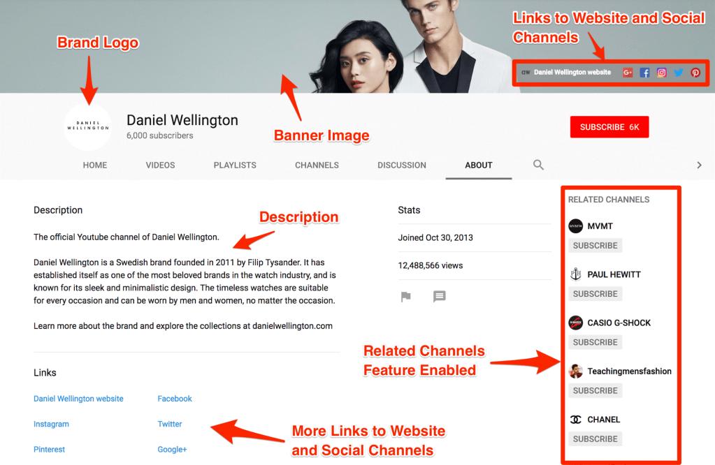 Daniel Wellington YouTube