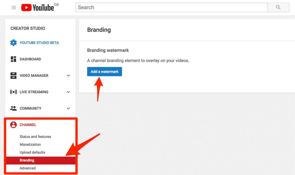 Add YouTube Watermark
